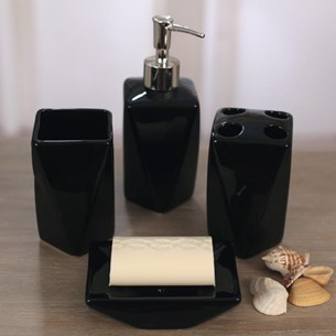 Four Piece Bathroom Set - Black