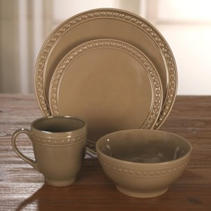 Hunter - Taupe Dinnerware (One Setting)