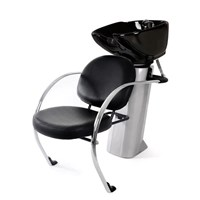 """ a Chloe"" Shampoo chair and basin, with large adjustable porcelain bowl (in black) with free tap fittings.  Very high quality!"
