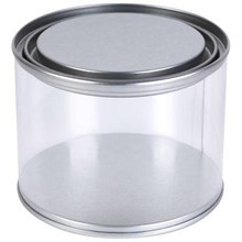 Clear 500ml Drum