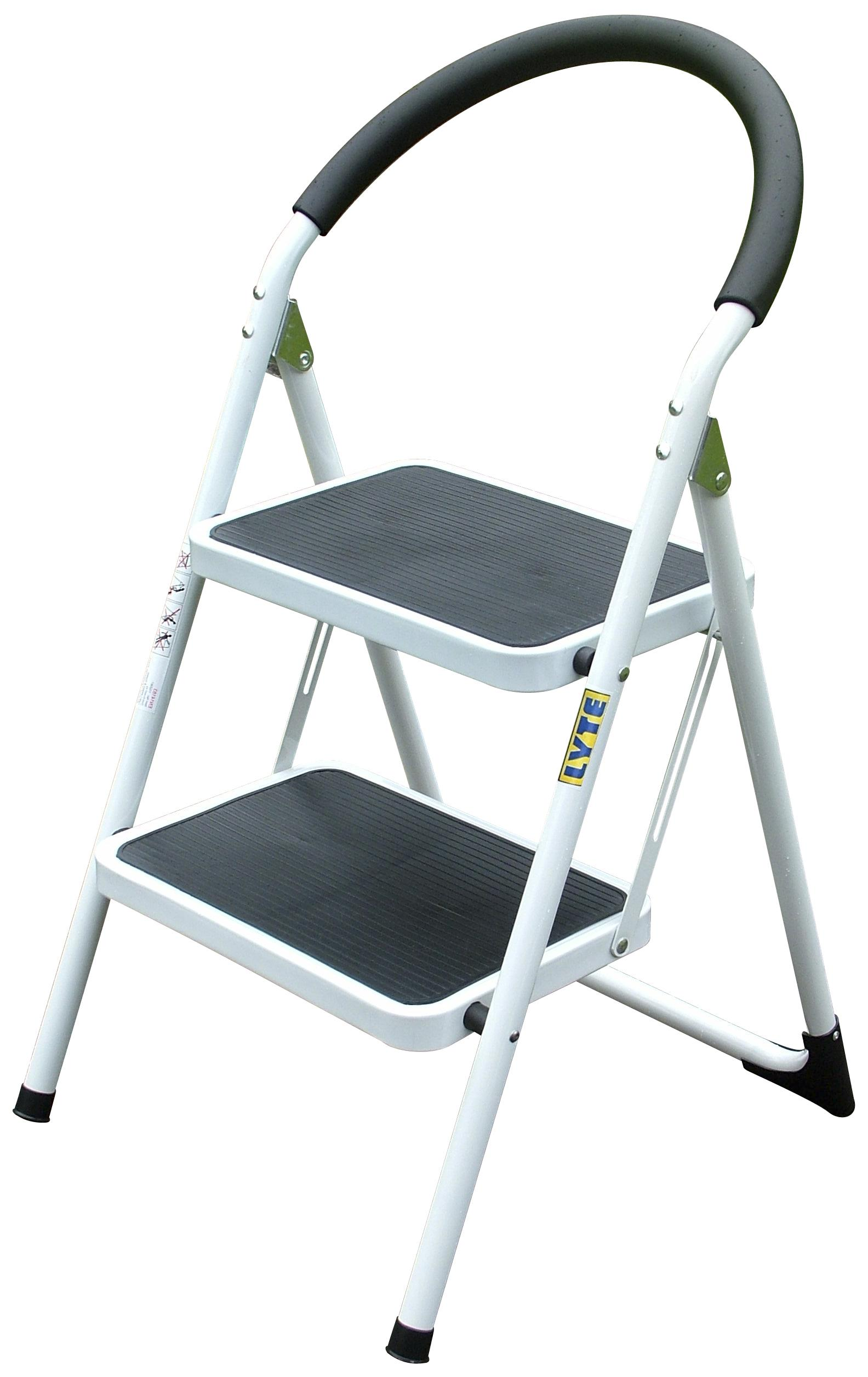 Lyte Lightweight Rounded 2 Tread Metal Step Stool