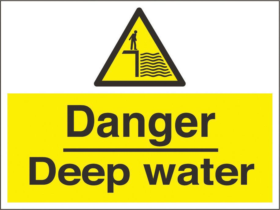Danger Deep Water Sign 600 X 450hmm Rigid Plastic As