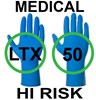 Supertouch High Risk Medical Grade Latex Disposable Gloves - Box of 25 Pairs - CE Marked - EN455 - Blue - ST-10411