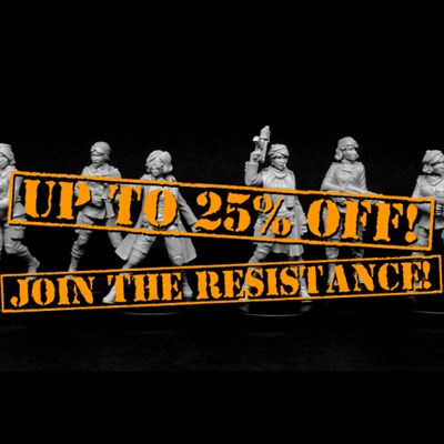 Up to 25% OFF the Female Resistance Fighters range!