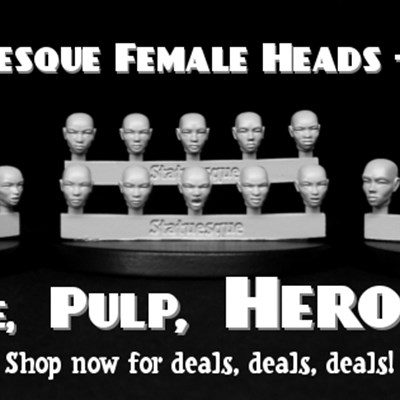 New Fine and Pulp Scale Female Heads - Bald on sale!