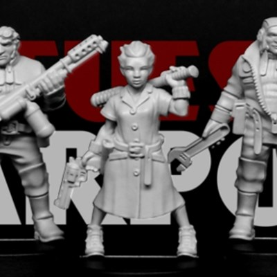 New Asylum and Starport figures, and Heroic Scale Narrow Heads on sale NOW!