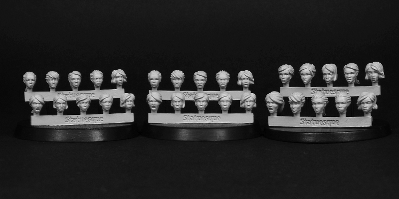 SMA012 Heroic Scale Female Heads now back in stock!