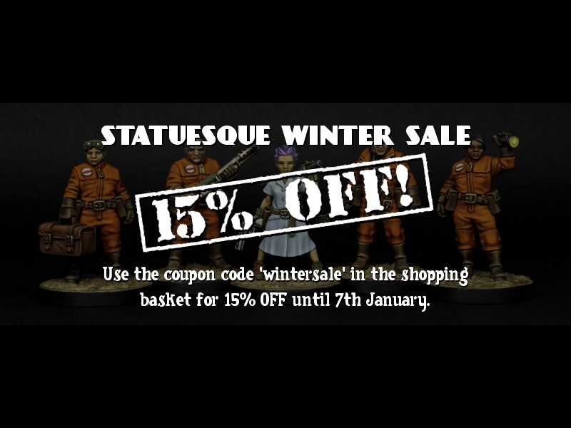 Statuesque Winter Sale - 15% OFF!