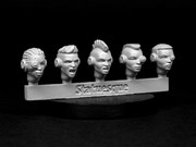 SMA3XX Heroic Scale Female Heads - Techno Raiders Sprue 2
