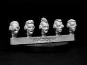 SMA3XX Heroic Scale Female Heads NARROW - Techno Raiders Sprue 2