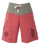 BEACH SHORT -RED/OLIVE