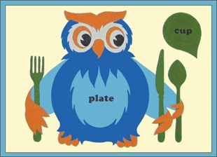 Owl Training Placemat