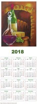 Wine and Cheese Calendar 2018