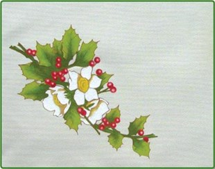 Christmas Rose Placemat
