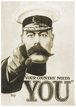YOUR COUNTRY NEEDS YOU - First World War Propaganda Poster