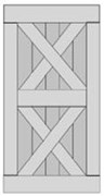 Double X-Brace Barn Door BD008-1220