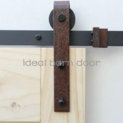Weathered Rust 2M  Barn Door hardware B02WR