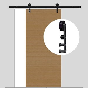 2.4M Sliding Barn Door hardware B11