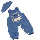 Miniland Educational Doll Clothing Denim Dungarees and Cap