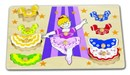 Dress Up Ballerina Wooden Peg Puzzle