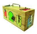 Wooden Activity Lock & Latches Box