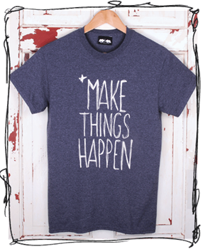 Make Things Happen - Heather Navy T Shirt