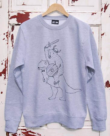 'Warrior' Jumper - Grey, Cranberry or Hawaii Blue