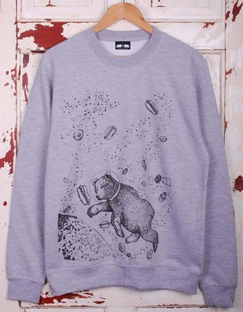 Yum Yum Space Jumper - Grey or Charcoal/Black Sleeves