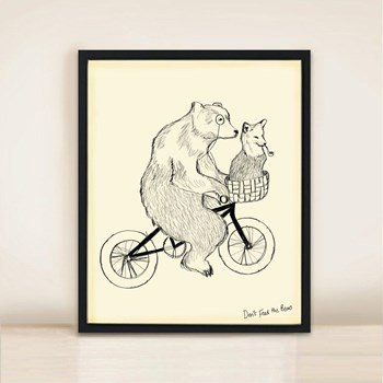 'Bear Phone Home' Print A3