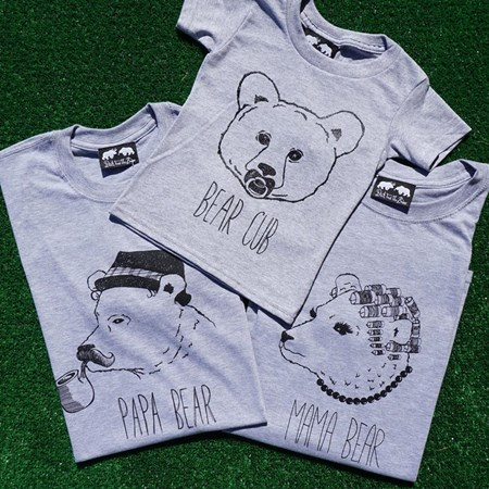 Three Bears T-Shirt Set (Mama & Papa Bear tee with Bear Cub Tee)