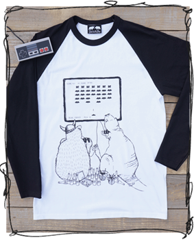 'Space Invaders' Raglan Tee