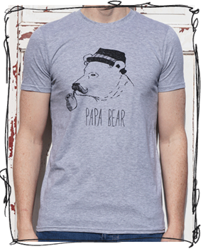 Papa Bear T-Shirt (more colours available)