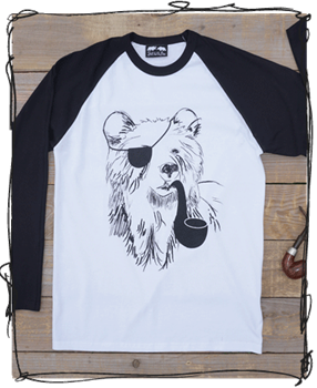 'Pirate Bear' Raglan Tee