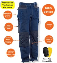 JOBMAN Workwear Hard Wearing 100% Cotton Trousers - 2199