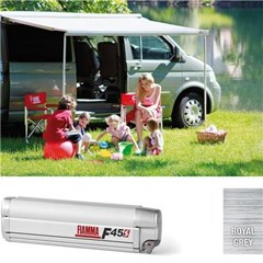 Fiamma F45S awning. VW T5 or VW T6. 300cm (lwb) Titanium case with a grey canopy