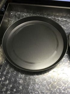 """5 X 16"""" IRON PIZZA PANS 1.5"""" FOR DEEP PAN PIZZA PROFESSIONAL QUALITY 5X 16"""" PIZZA PANS"""
