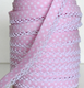 Light Pink Spot Bias Binding (double fold) PRICED PER METRE