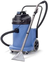 Numatic CTD900 -2 TRUCK TYPE CARPET EXTRACTION VACUUM. Large commercial / industrial 'CT' extraction cleaning vac., with dual motors (2400W), giving 80L/sec airflow and features the tipper system and excellent mobility.