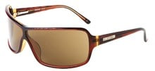 Odyssey Brazilian Brown Grid Sunglasses