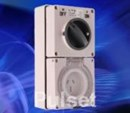 PULSET - 3 Flat Pin 10Amp Double Pole Combination Switched Socket - IP66 Rated IPCO1PH10