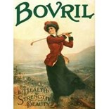 Bovril 'Lady Golfer' A3 Metal Wall Sign