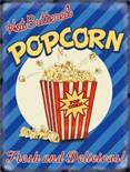 NEW IN.. Pop Corn -  Metal Wall Sign (3 sizes)