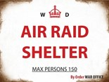 Air Raid Shelter  - A5 Metal Sign