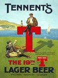 Tennents T Lager A3 Tin Sign