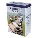 LAST ONE REMAINING..Sunlight Soap Vintage Storage Tin