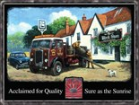 ALBION Truck - A3 Metal Wall Sign