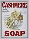 Cashmere Soap  A3 Tin Sign