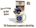 NEW IN.. Air Raid (Men Wanted) Mug with/without a selection of 40's Traditional Sweets.