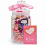 NEW IN..'Love' Lolly May Glass Sweet Jar