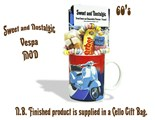 Vespa Mug filled with/without a Wizard portion of 60's retro sweets.